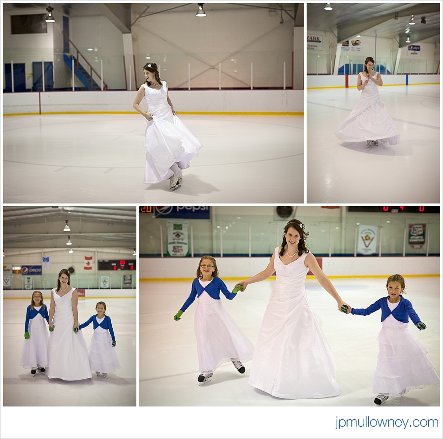 The Bride Gives a Skating Lesson