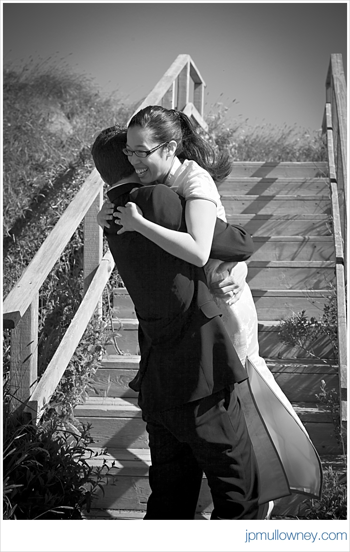 Jasmine and Josh after their ceremony