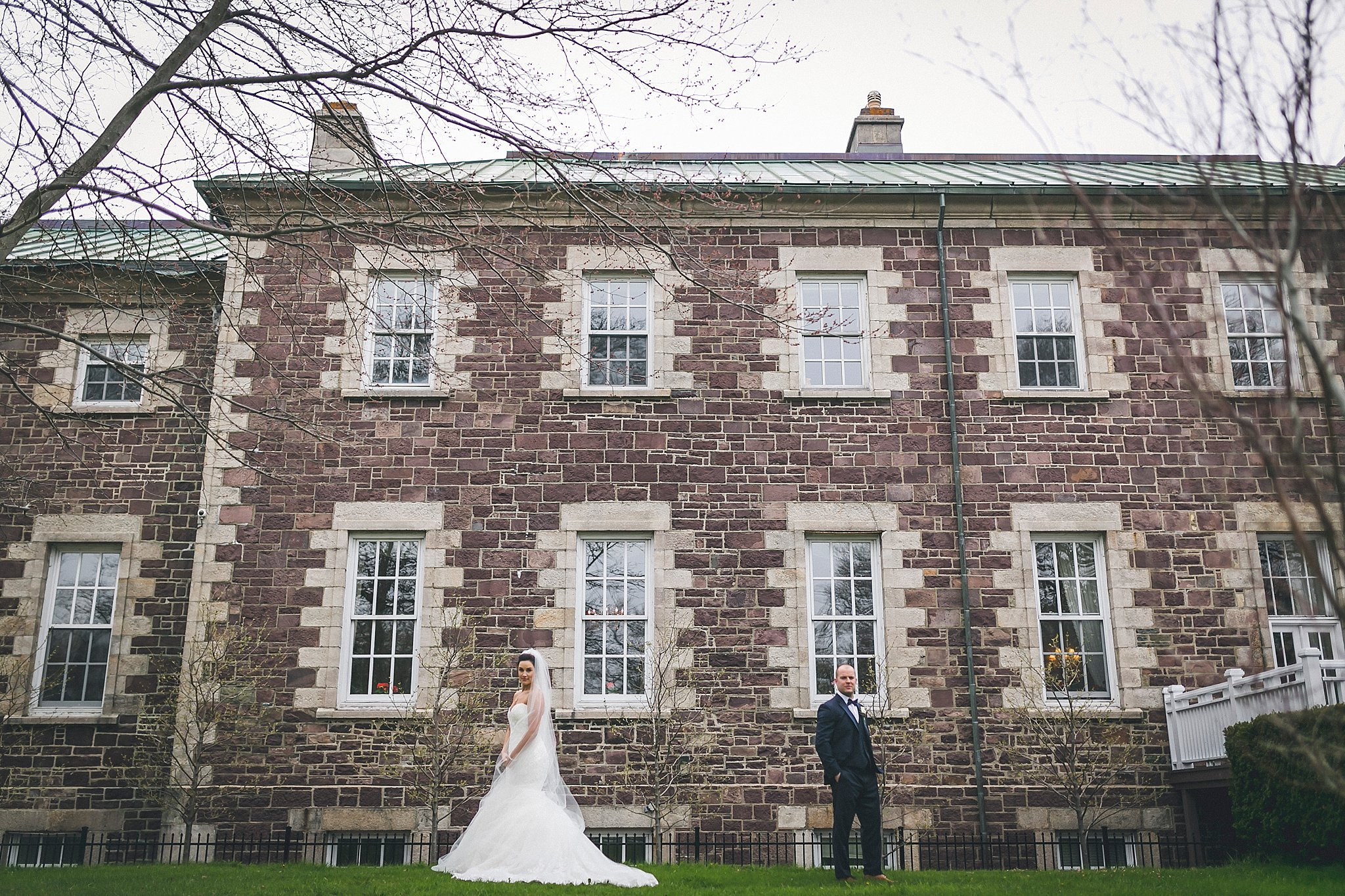 Bride and Groom portrait outside Government House during a St. John's, Newfoundland wedding
