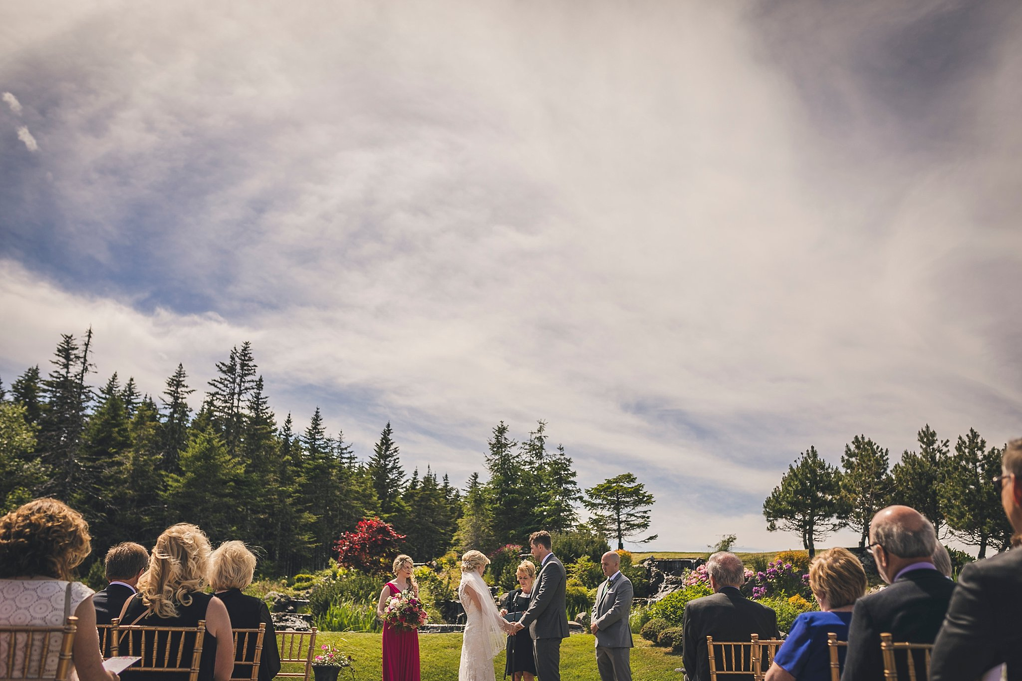 Outside wedding ceremony at Glendenning in St. John's, Newfoundland
