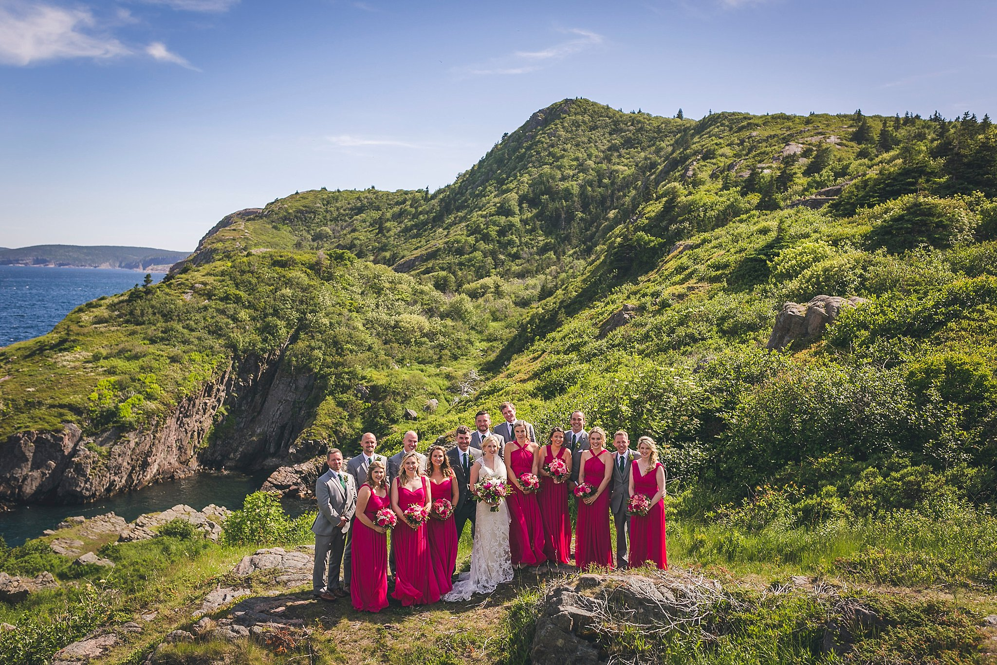 Wedding party at Cuckhold's Cove in Quidi Vidi in St. John's, Newfoundland
