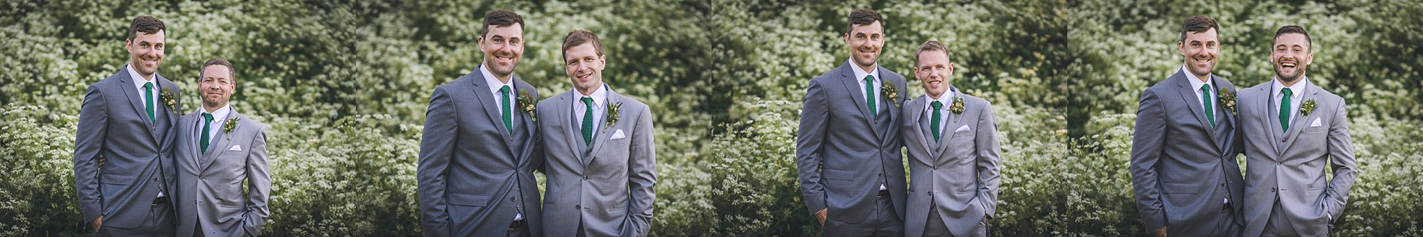 Groom in his custom Joseph Abboud suit during his Newfoundland Wedding photographs