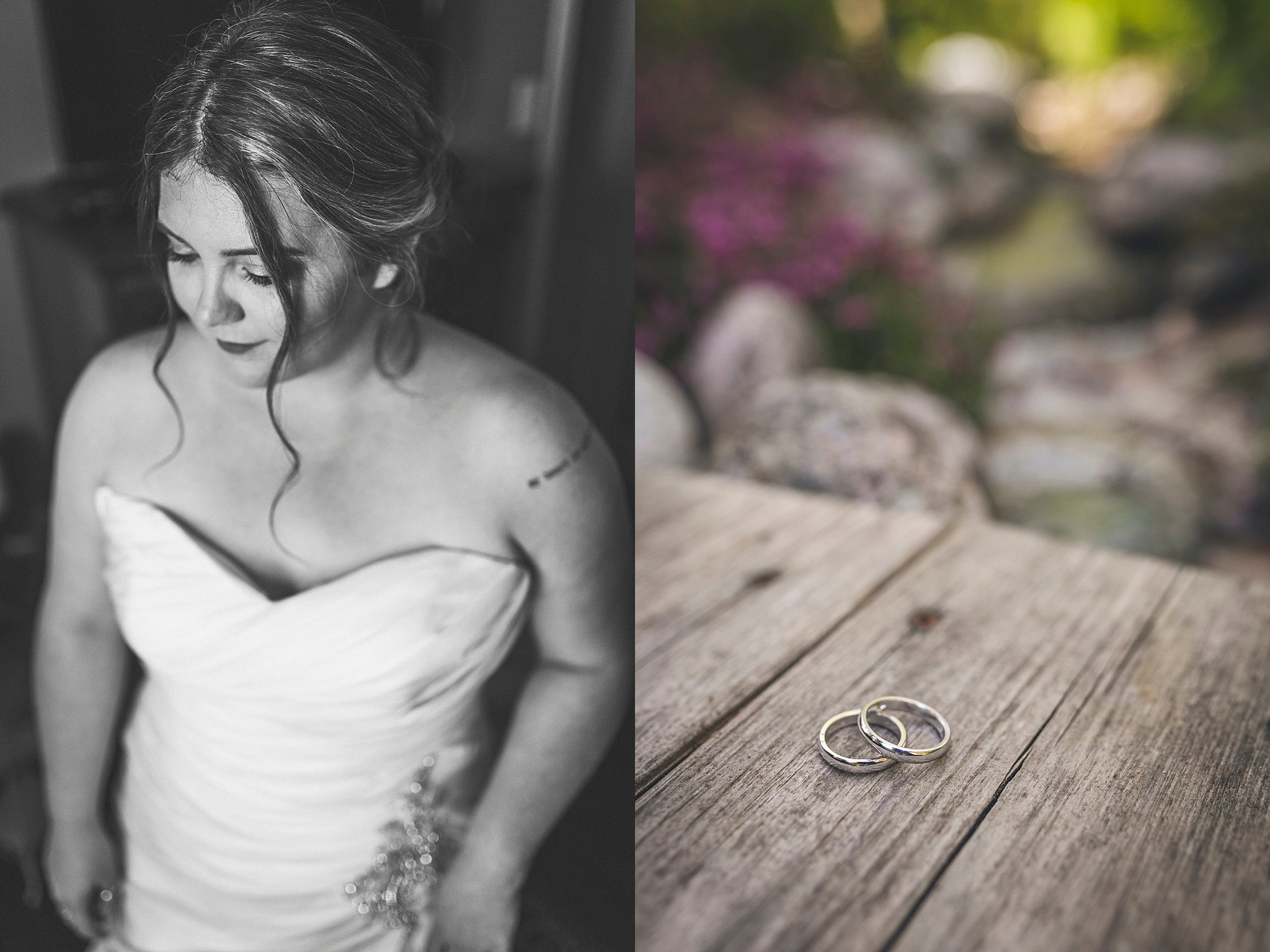 A bride and her rings before her St. John's, Newfoundland wedding.