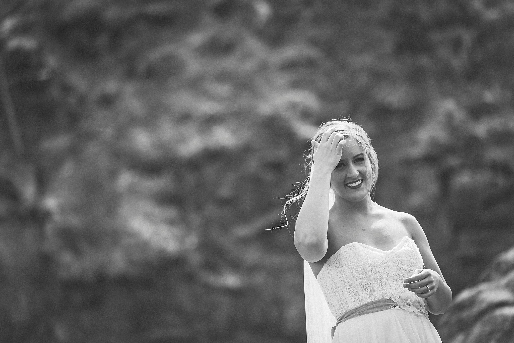 A bride in Quidi Vidi for her wedding photography in St. John's, Newfoundland