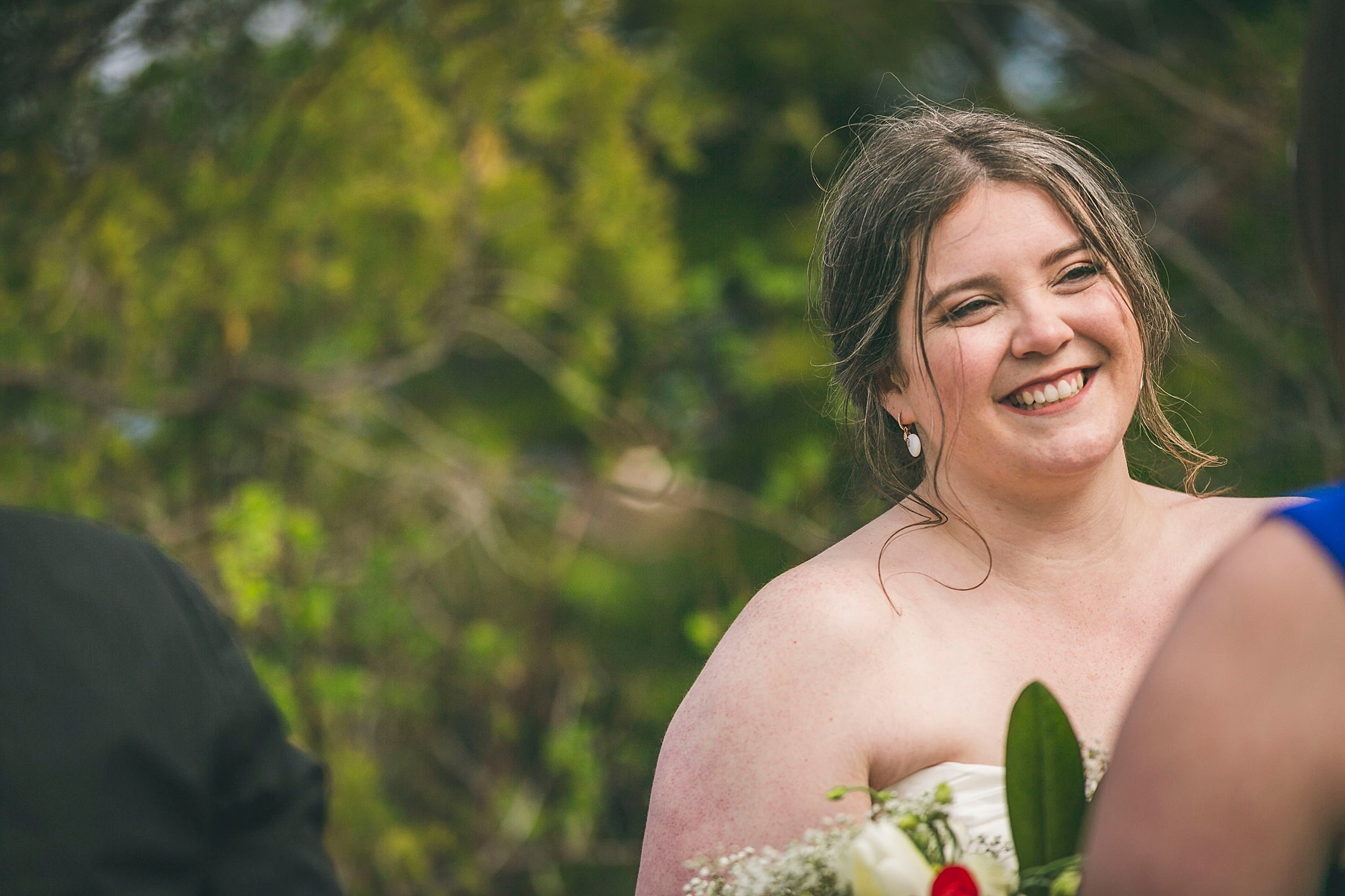Outside Newfoundland wedding ceremony held at Murray's Pond in Portugal Cove-St. Philips