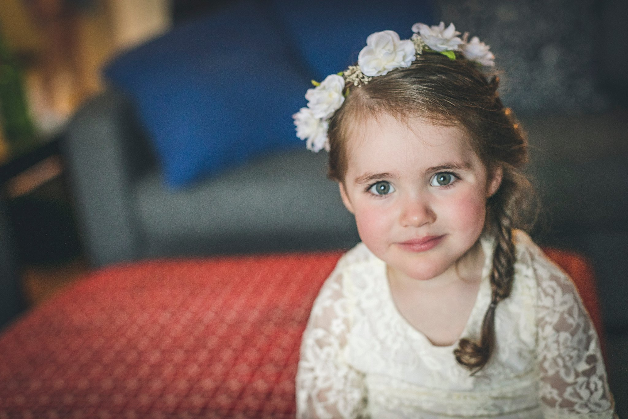 Flower girl waits for the Bride during a St. John's, Newfoundland wedding