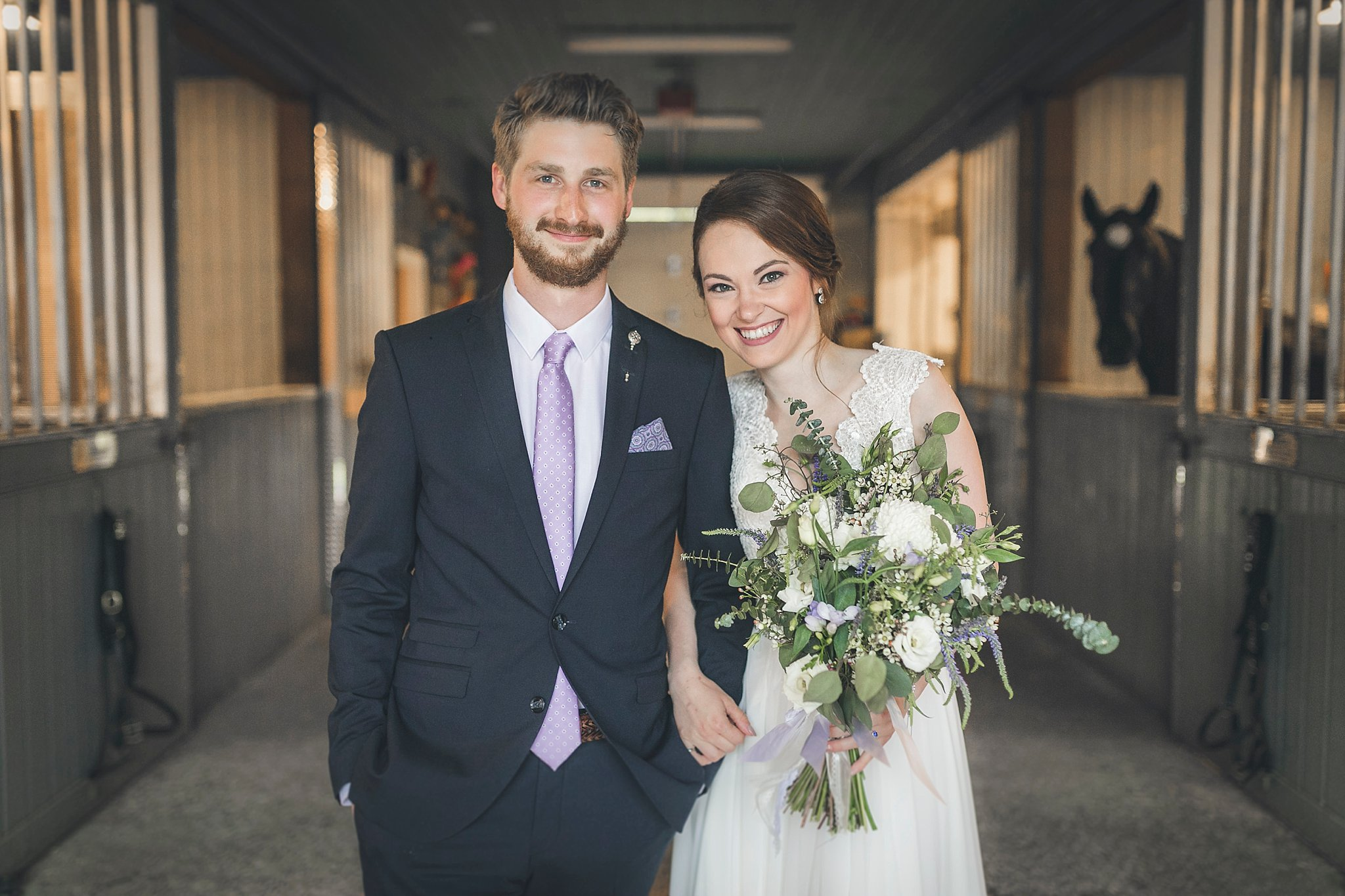 Wedding photography in St. John's, Newfoundland. ride and Groom at the RNC stables
