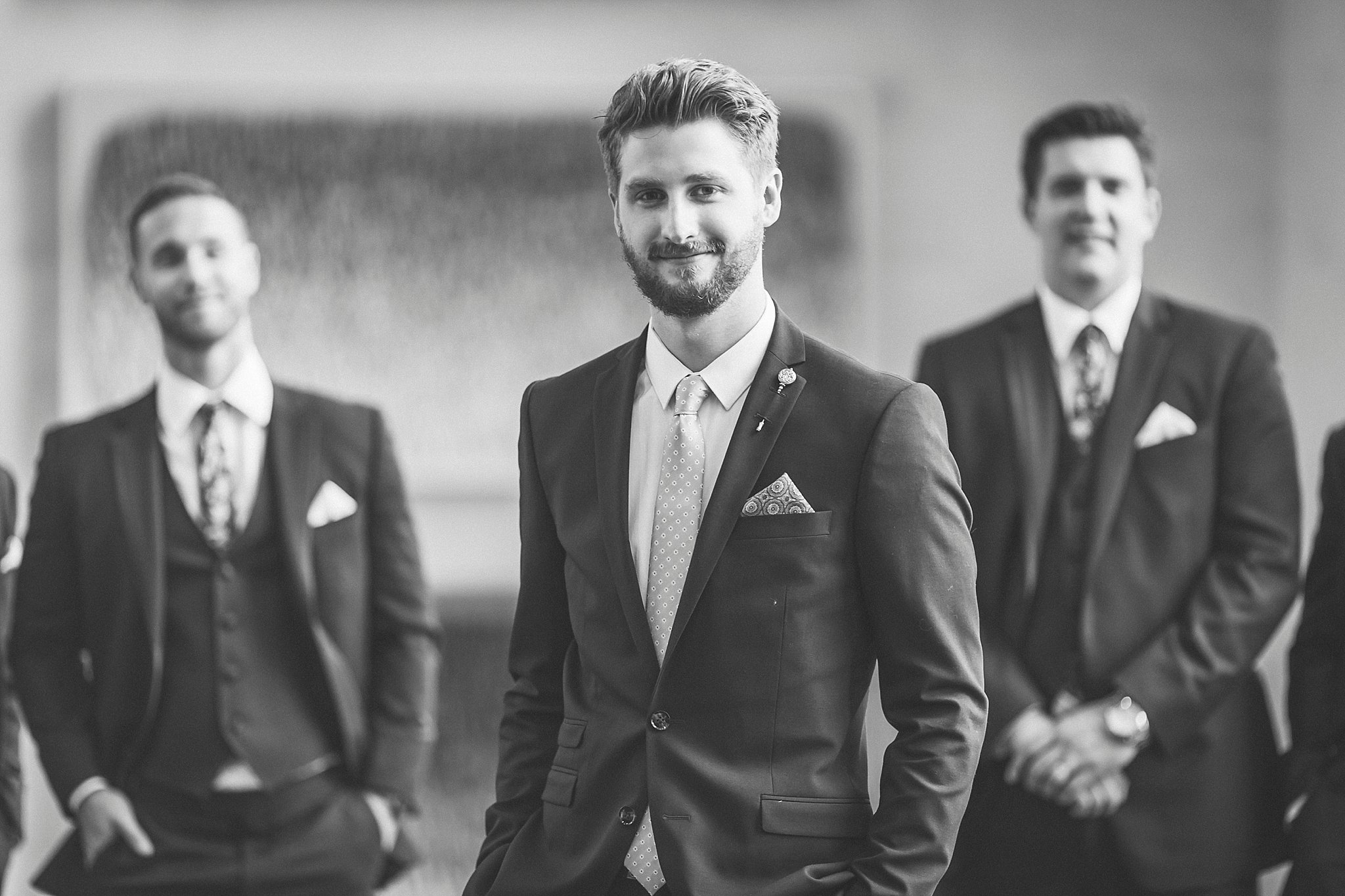 Groom at a St. John's, Newfoundland Wedding