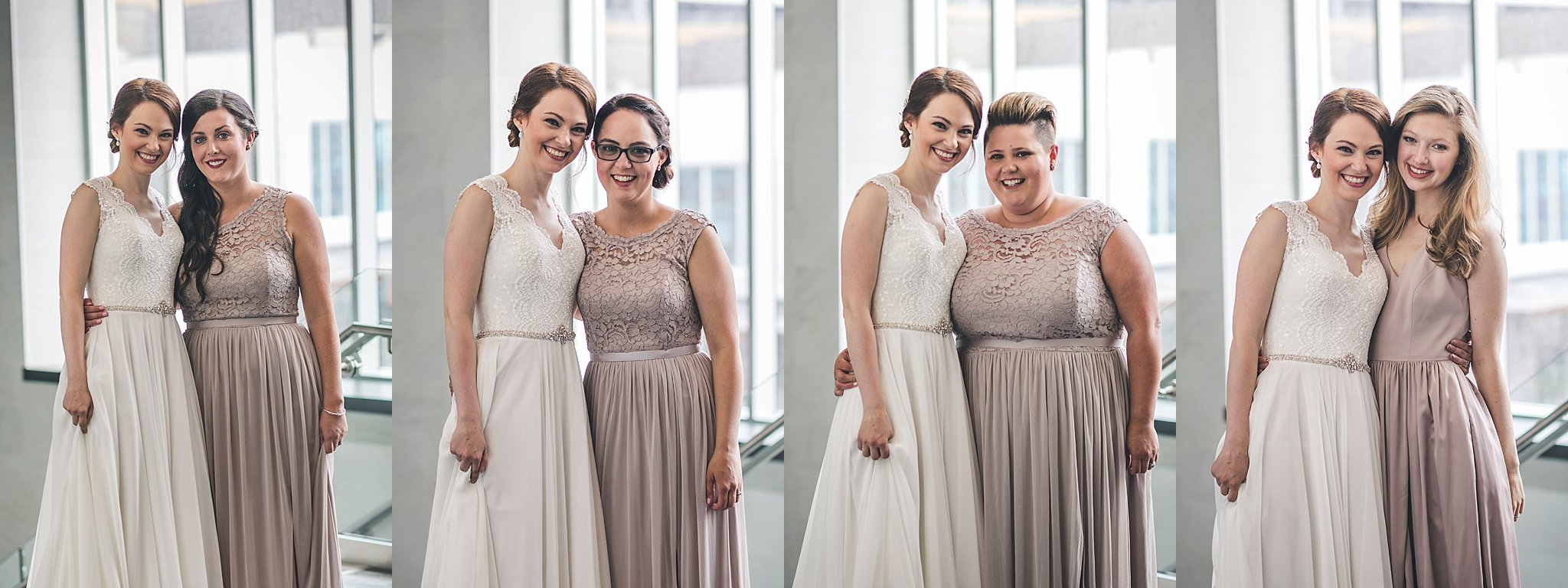 Bride and her maids during a St. John's, Newfoundland wedding