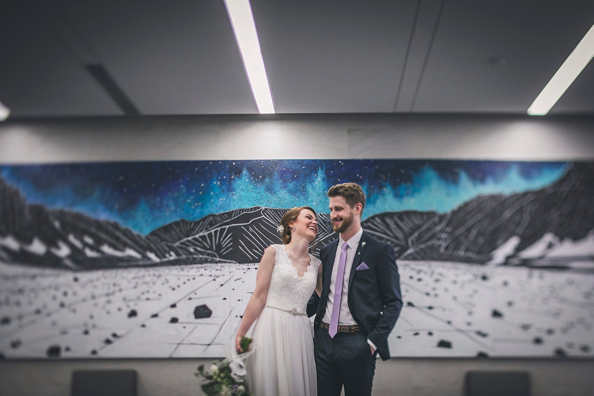 Bride and groom portraits during a St. John's, Newfoundland wedding