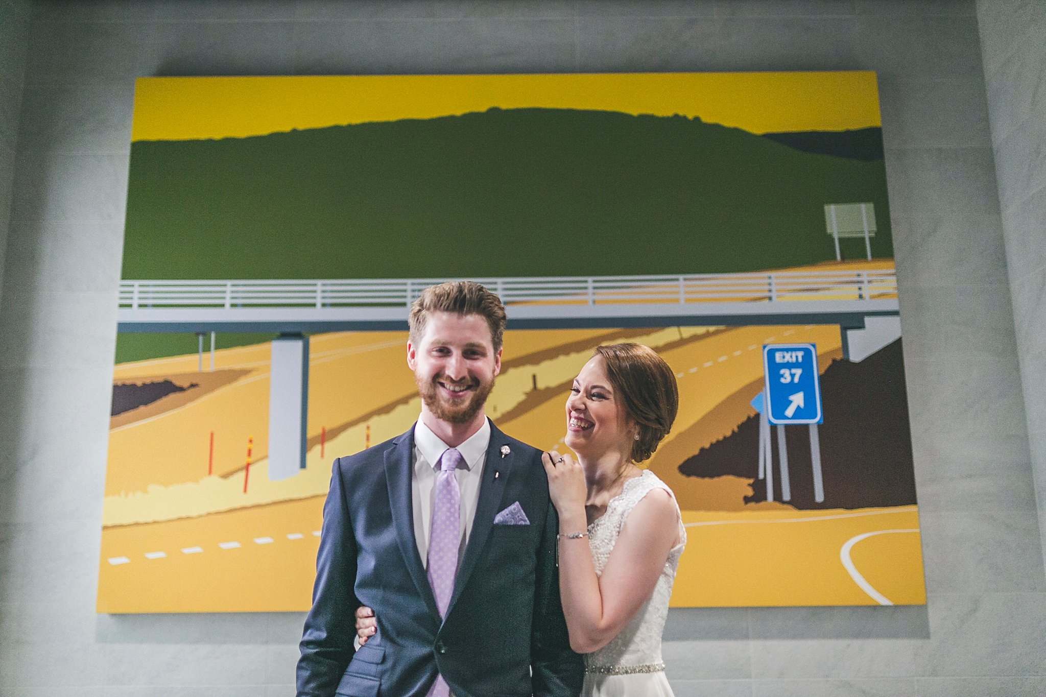 Bride and Groom laughing during their Newfoundland wedding photography