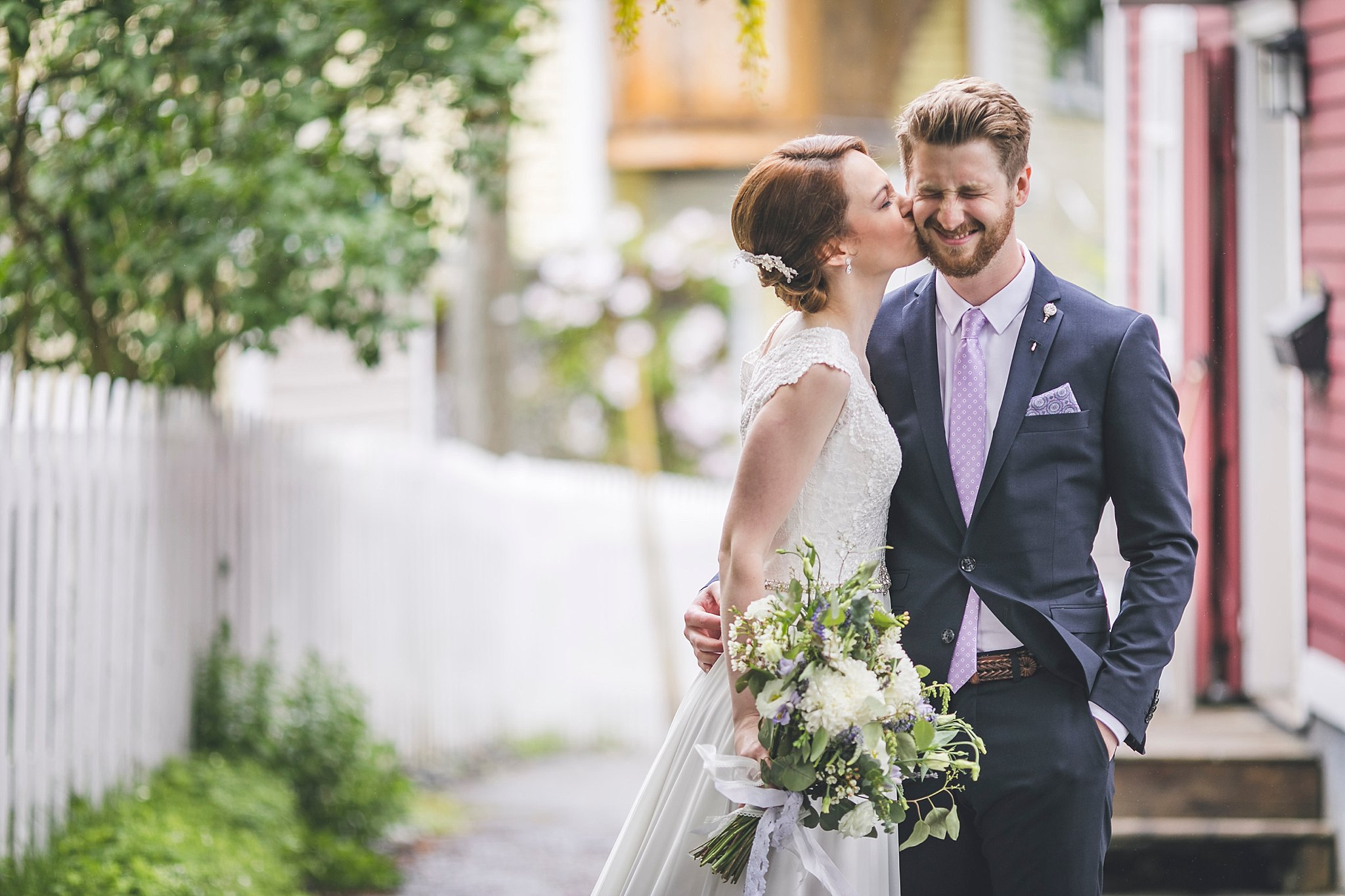 Bride and Groom have their wedding photography taken by St. John's Photographer JP Mullowney