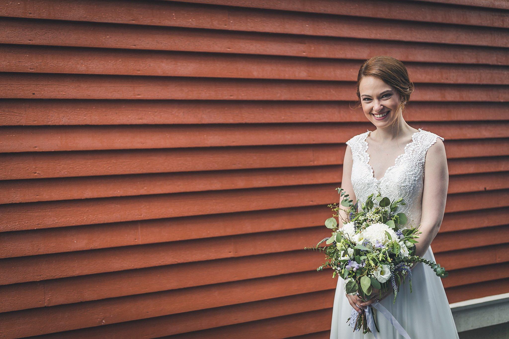 Brideal portrait by St. John's, Newfoundland wedding photographer JP Mullowney