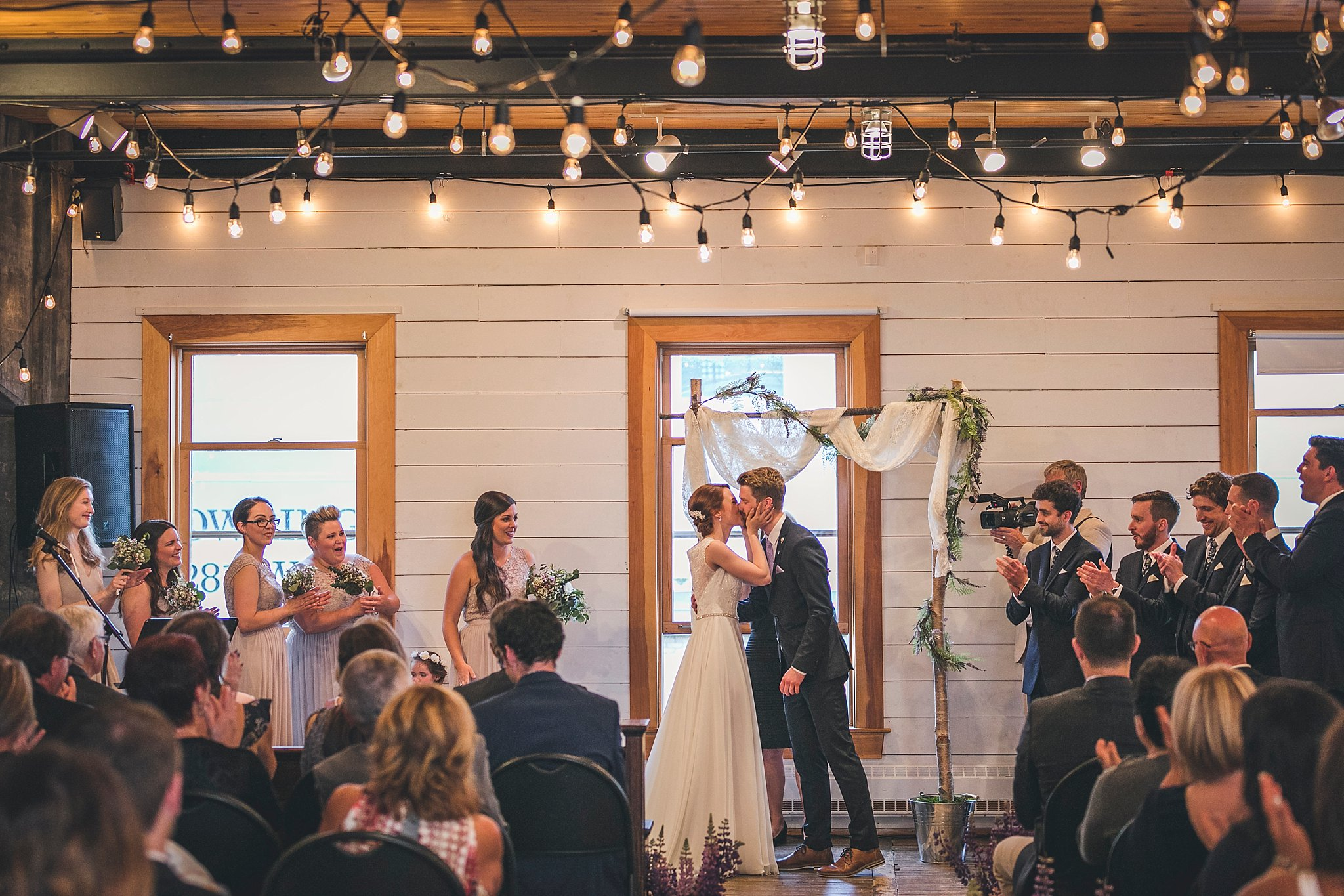Wedding ceremony at the Rocket Room in downtown St. John's