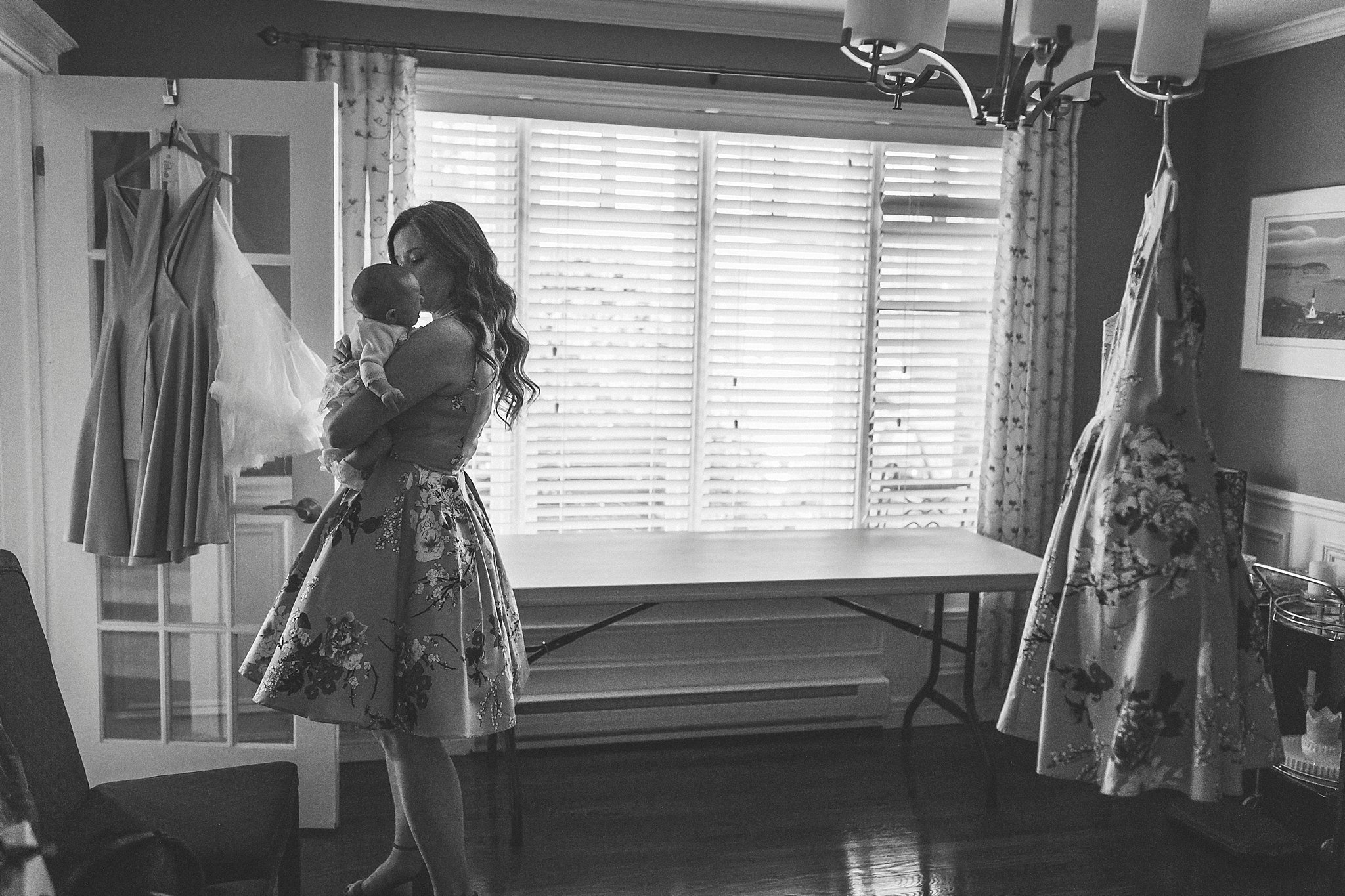 Bridesmaid cares for Bride's daughter before her St. John's, Newfoundland Wedding