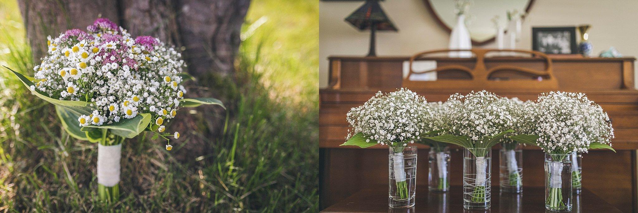Wedding bouquets prepared by bride's friend at her St. John's, Newfoundland wedding