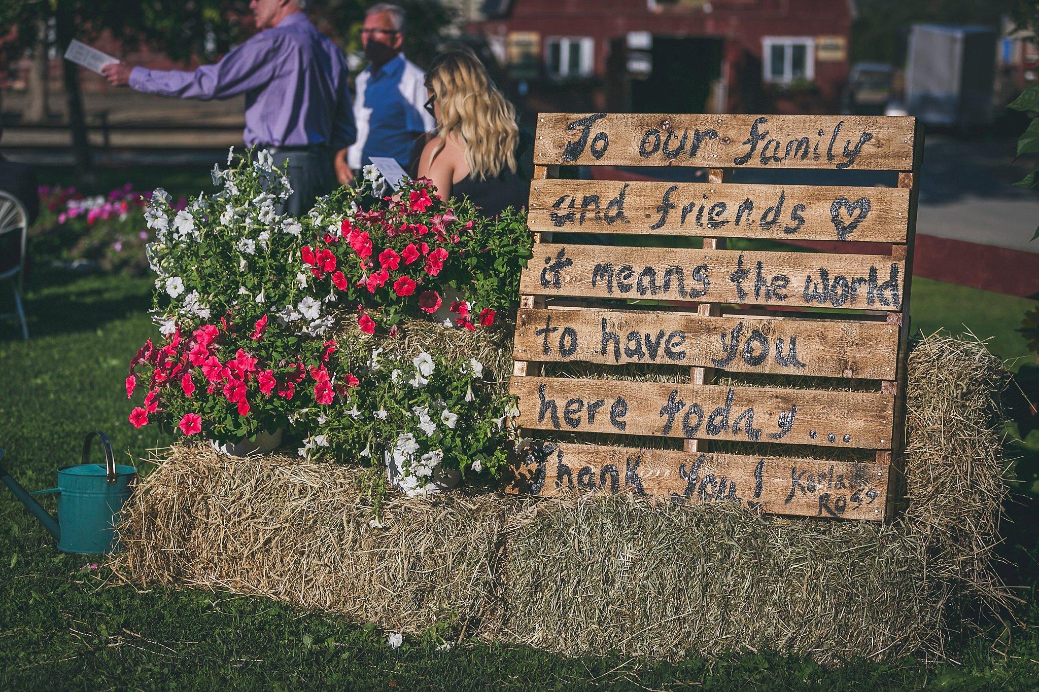 Wedding ceremony held at Lester's Farm in St. John's, Newfoundland