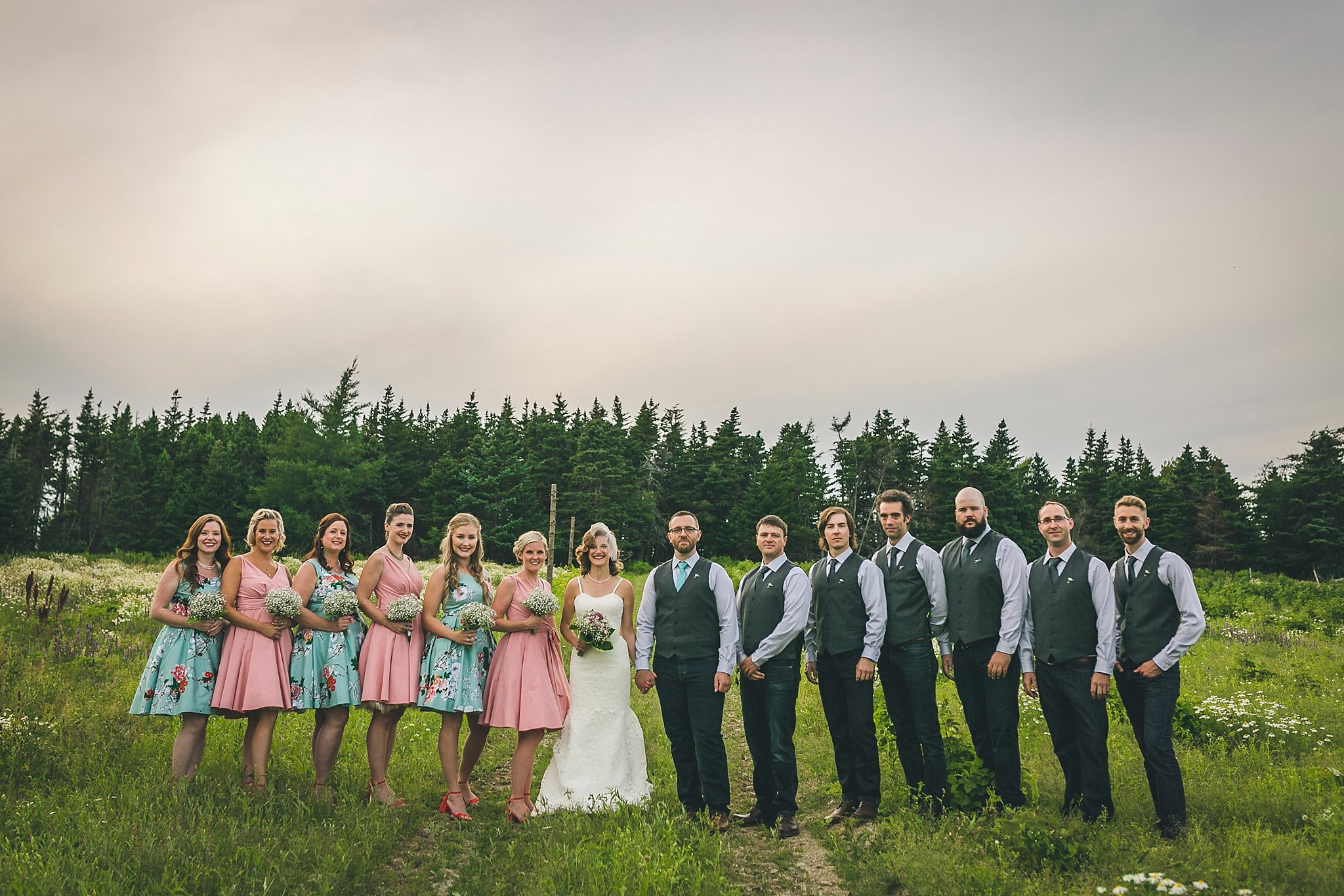 Wedding party photographs during a St. John's, Newfoundland wedding held at Lester's Farm