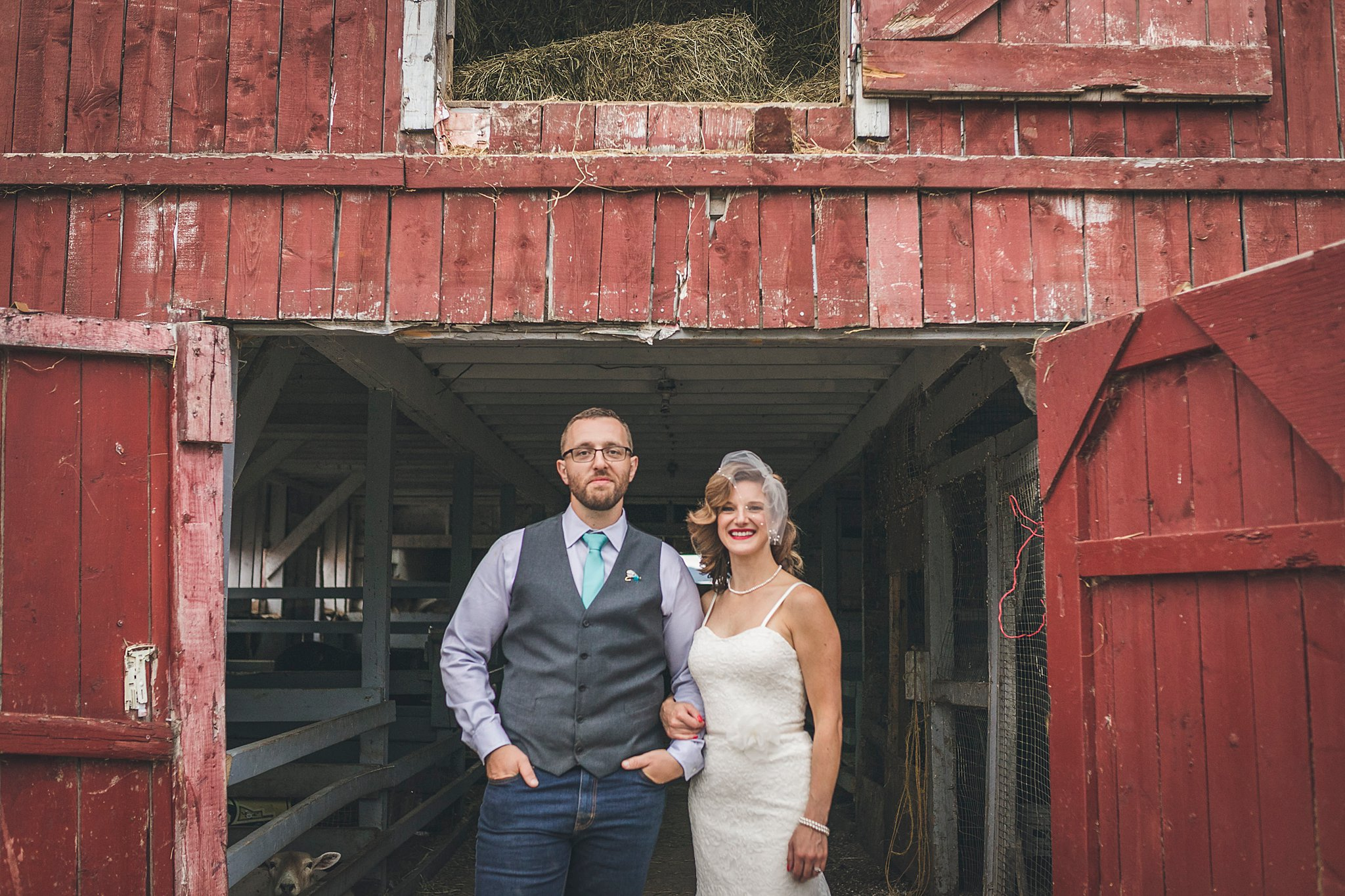 Newly married couple at their wedding held in St. John's, Newfoundland