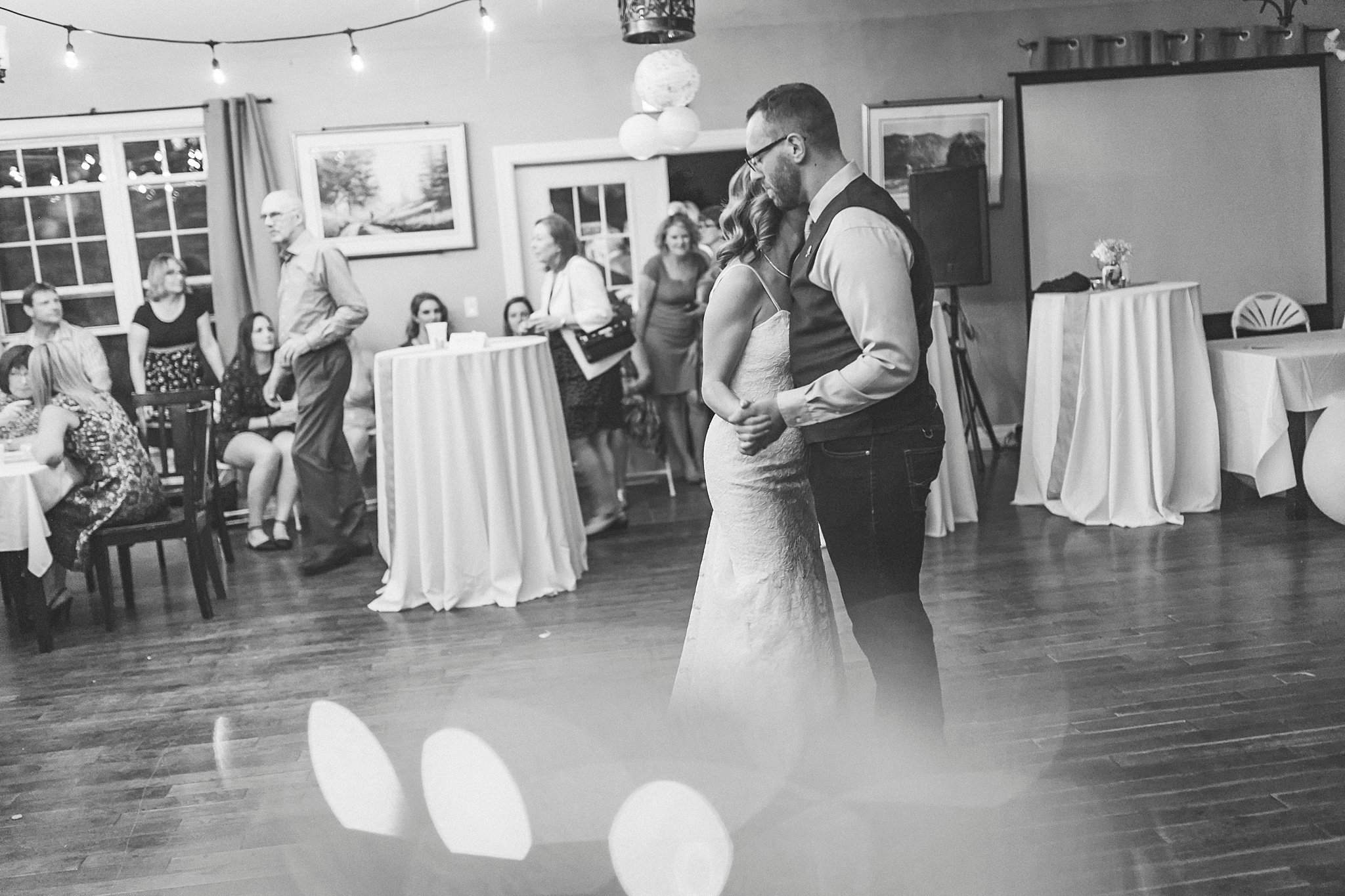 Bride and Groom share first dance at their St. John's, Newfoundland wedding