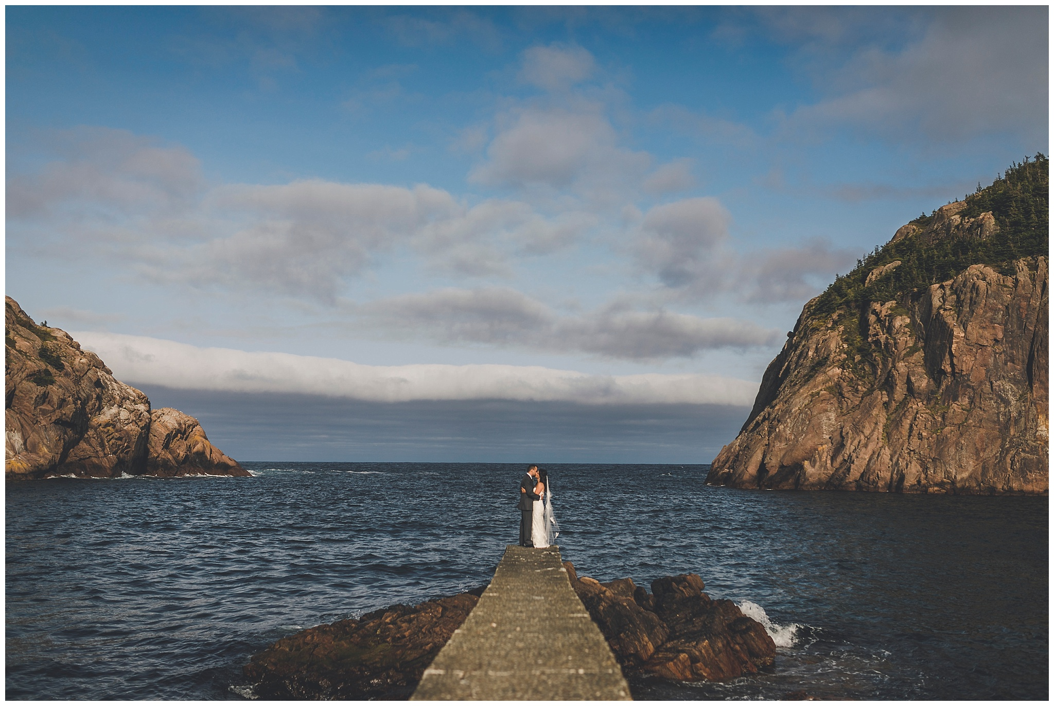 Beautiful summer day in Quidi Vidi for wedding photos
