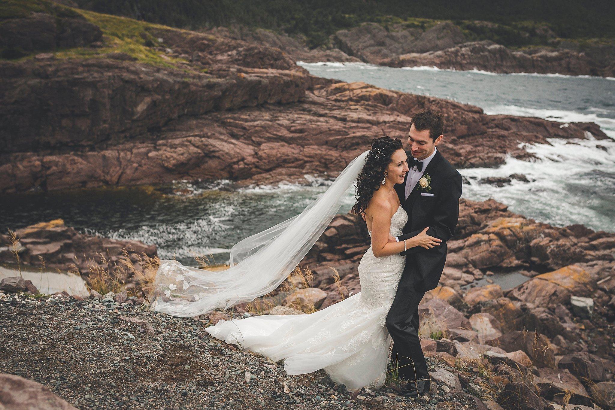 Logy Bay Wedding Couple
