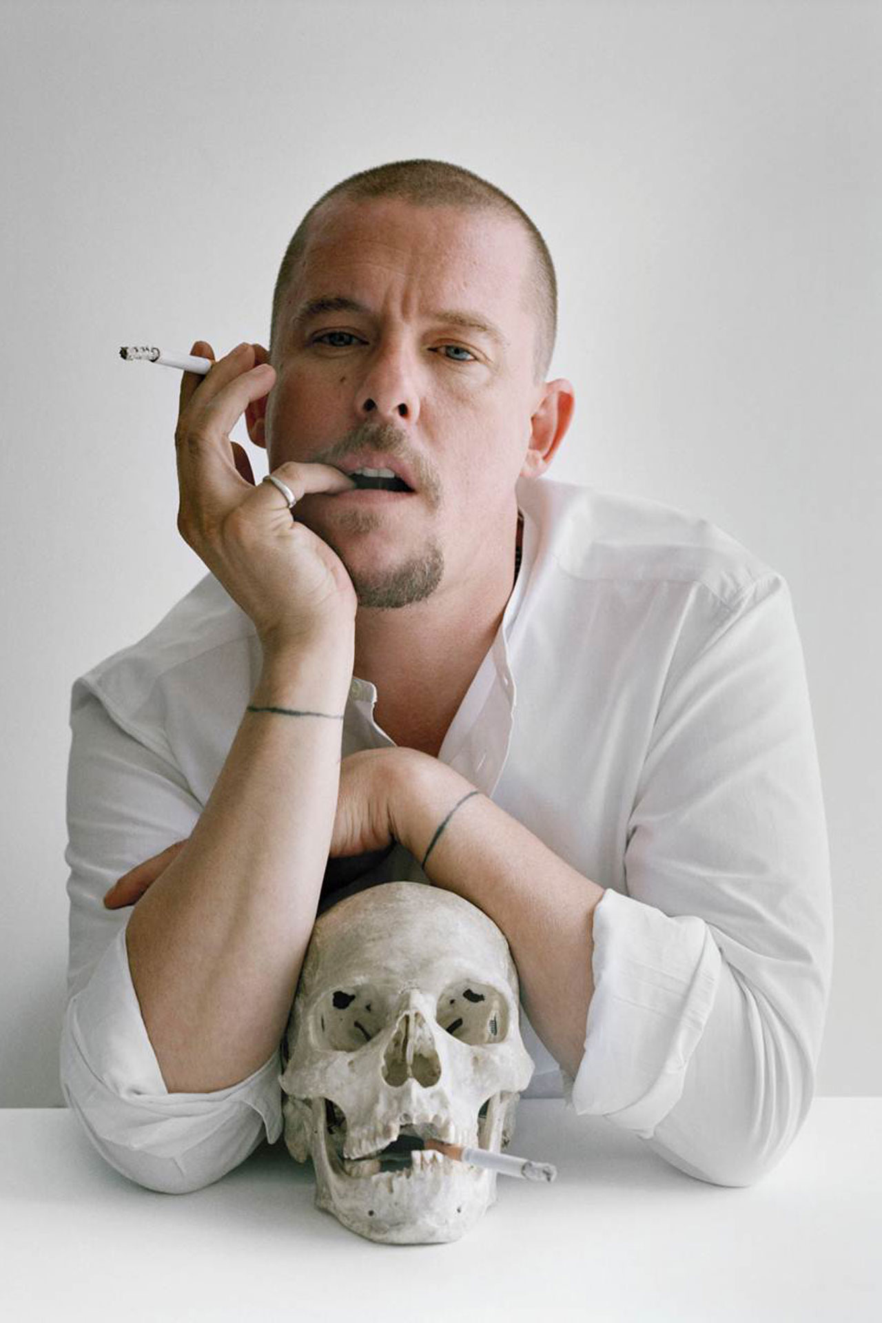 Portrait of Alexander McQueen (fashion god!) for  The British Are Coming  | British Vogue | October 2009