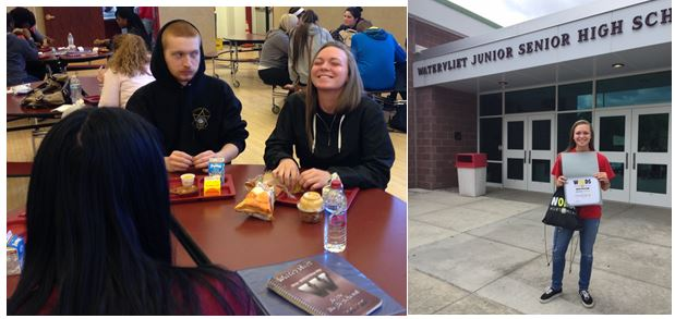 Brianna Francis - Grade 11 - Watervliet Junior Senior High School  Brianna captured the WORDS spirit by inviting a new student to sit at her lunch table. They still continue to sit together. Nice job Brianna!