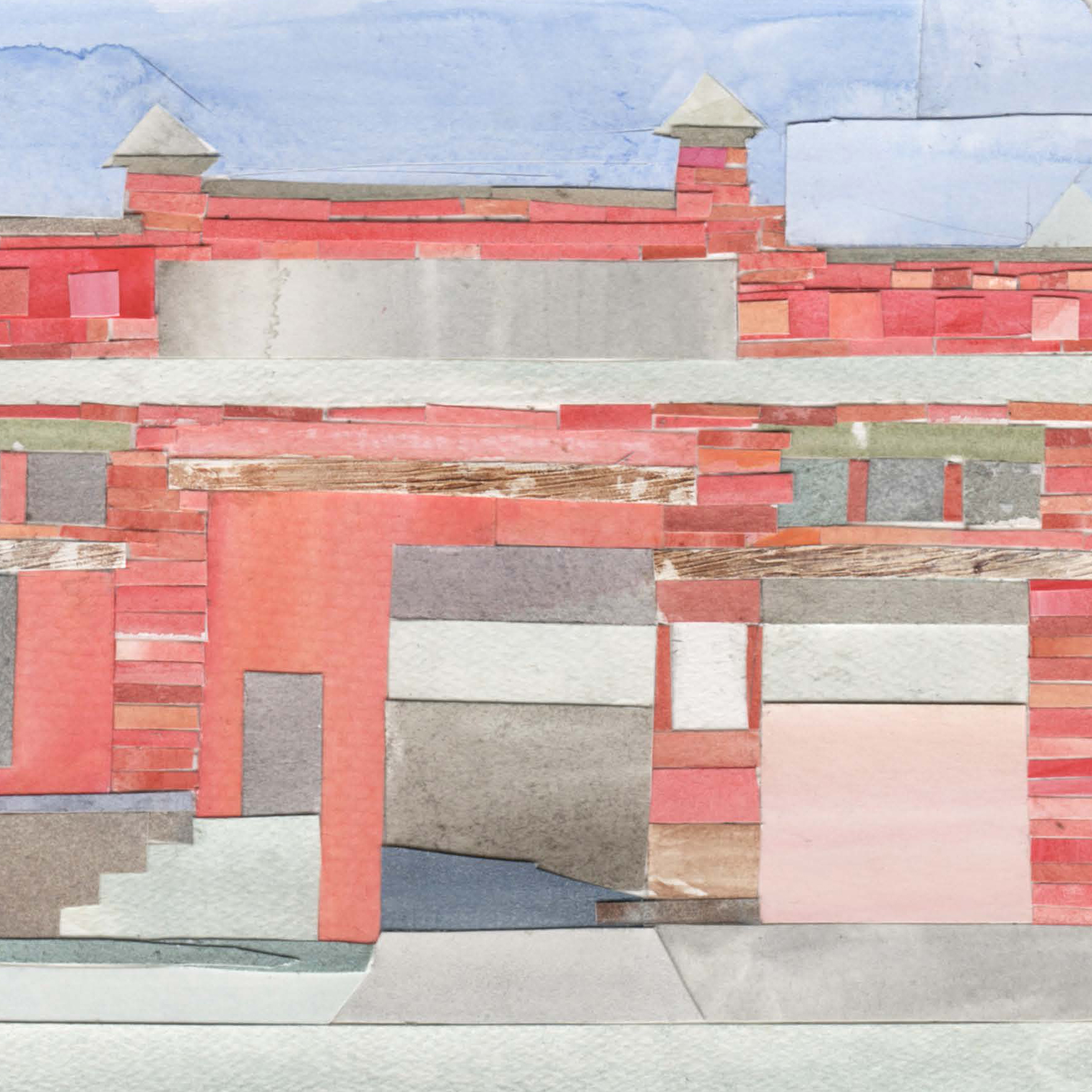 Leftovers: The Last Streetcar Sites, 2018  I spend 2018 working in the archives of the Baltimore Streetcar Museum, seeking out the remaining locations of various sites pertaining to the now obliterated transit system. These 39 watercolor collages chronicle the only locations that remain today.