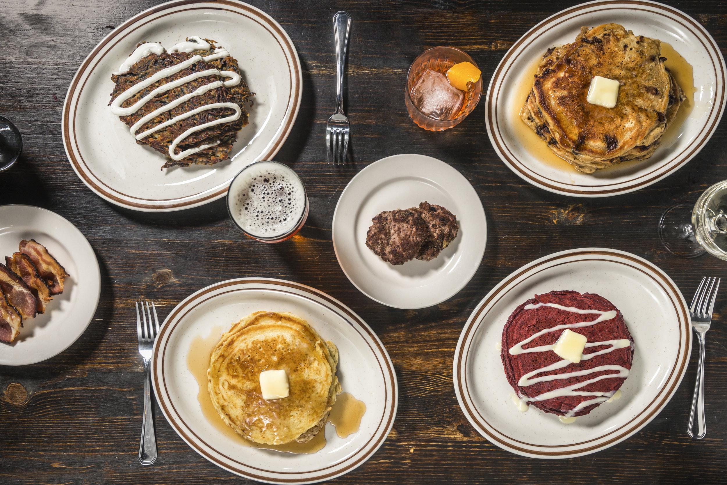 Midnight Pancakes, served starting Midnight. Photo credit Paul Wagtouicz.