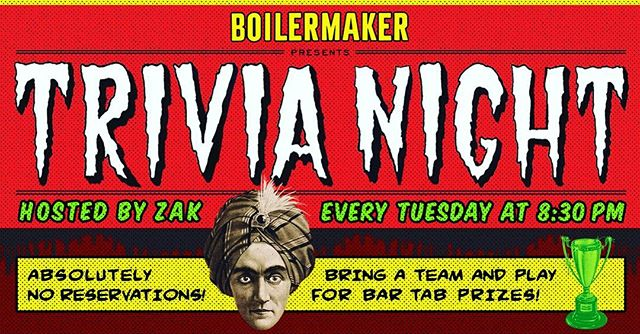 You know what today is.. Come by for a drink and some trivia starting at 8:30pm ! 🍻