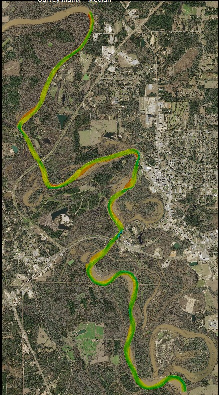 Pearl River Multibeam Channel Survey, Marion County  Mississippi Department of Transportation (MDOT)  2018