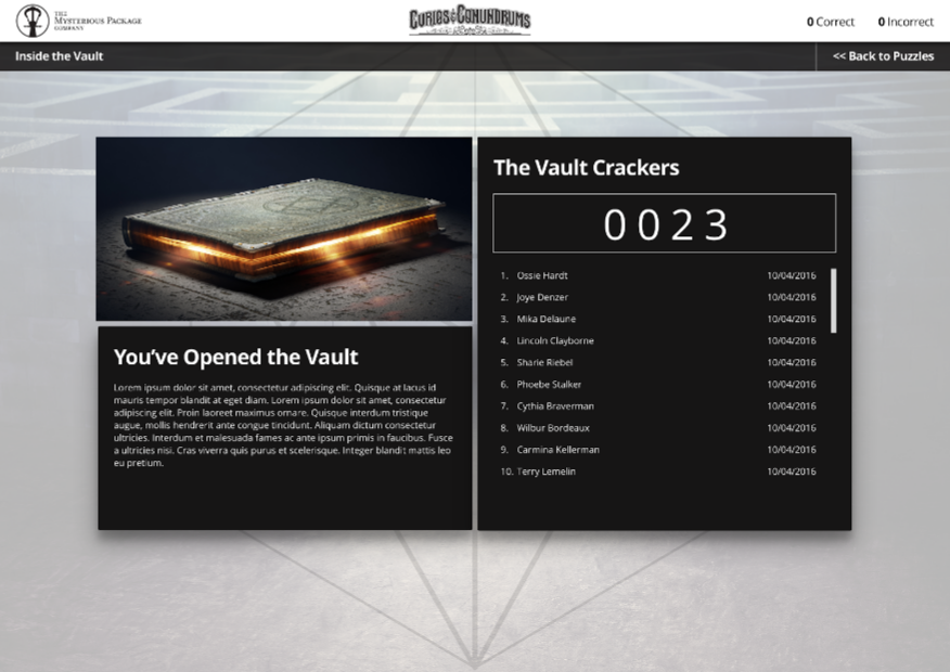Vault Opened