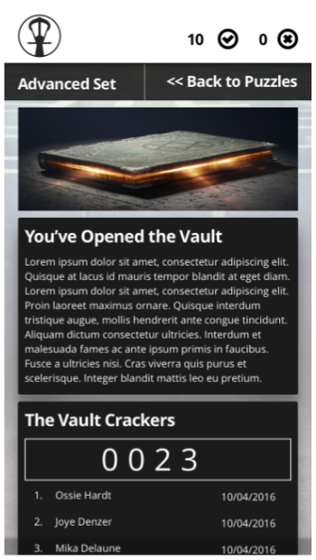 Vault Opened Mobile