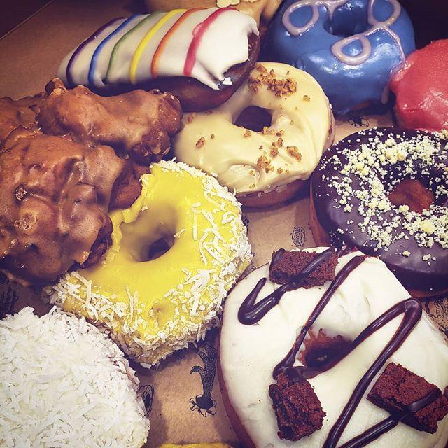 Birthday treat for @trevordruiett from the amazing @donutmonsterhamilton  #donut #monsterdonut #bakedgoods #dessert