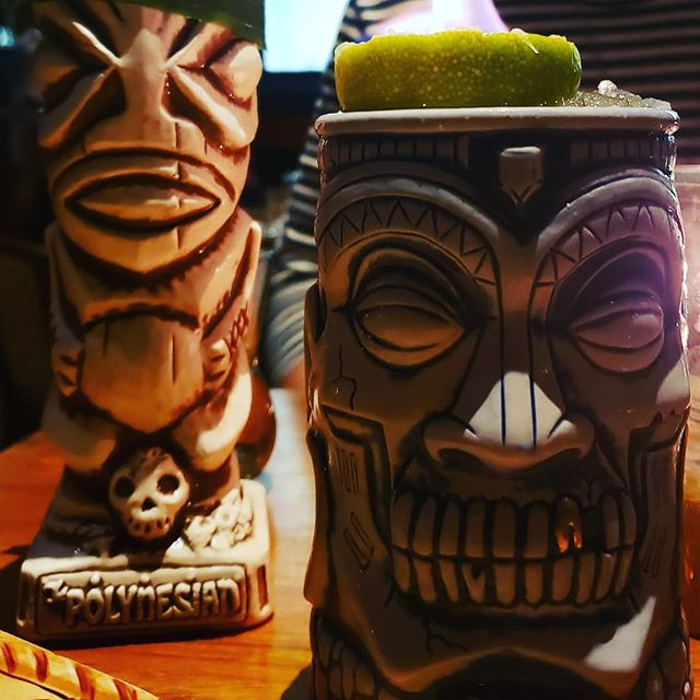 Hanging out with the boys #tikibar #tikicocktails #thepolynesian #nyc #cocktails