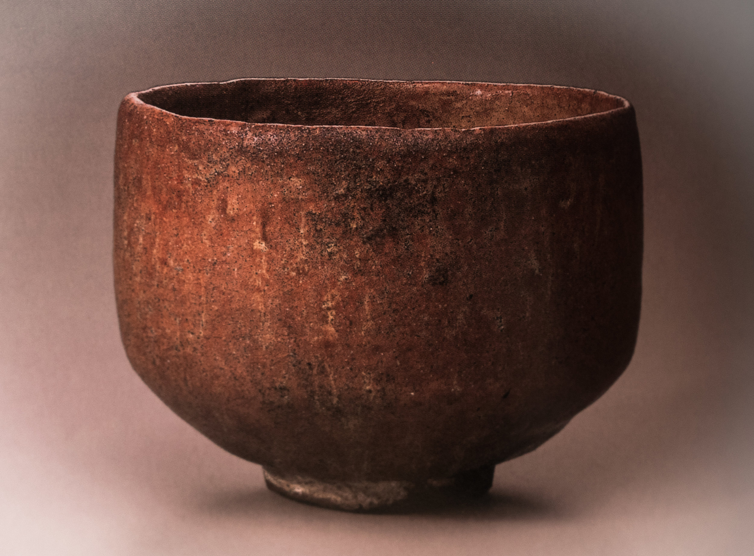 RED RAKU BOWL NAMED MUICHIMOTSU (NOTHING) or MUICHIBUTSU, RAKU CHOJIRO (?-1589). Collection of Sagawa Museum of Art (image from the exhibition catalogue)