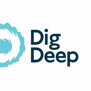 Dig Deep  works to help schools and communities get access to water and sanitation. They work to build taps and toilets; to ensure that water and sanitation services are maintained for the long term; and to provide vital hygiene training to the next generation.