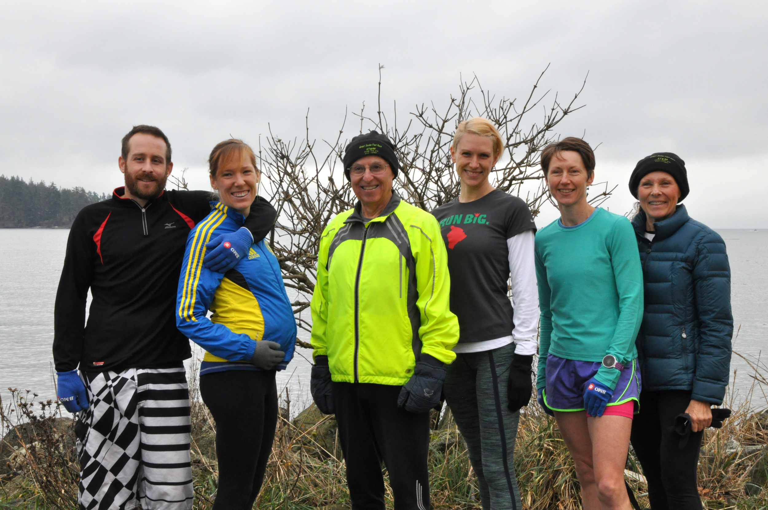New Year's Day  2014 fun run: Ryan, Sara-Mae, Tom, Amanda, Tory and Jackie