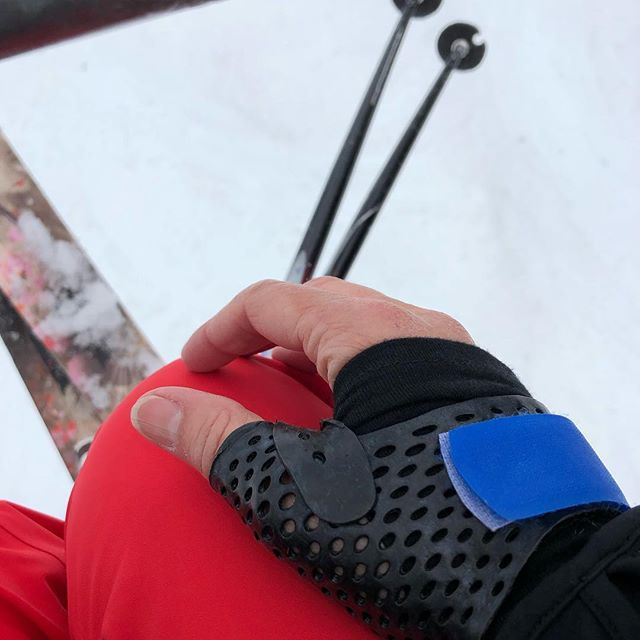#sprainedthumb ? We have a splint for that !#certifiedhandtherapist #painistemporary #whistlerblackcomb #springskiing