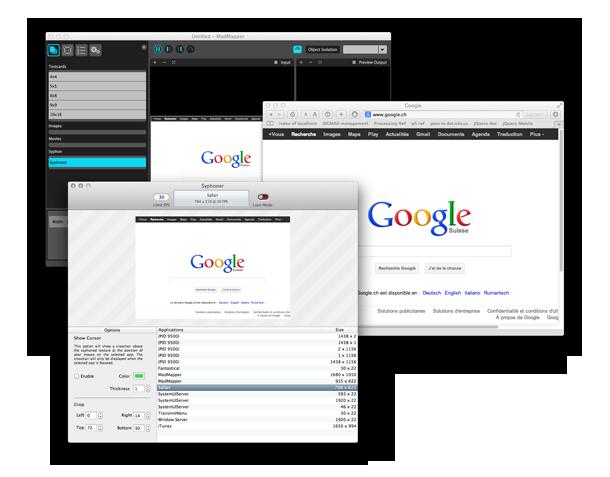 透過Syphon進行 網頁螢幕分享到 VJ 軟體Madmapper >