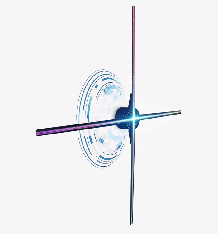 3D全息投影風扇內建WIFI - Holo Rainbo wifi尺寸大小30cm 60cm 100cm