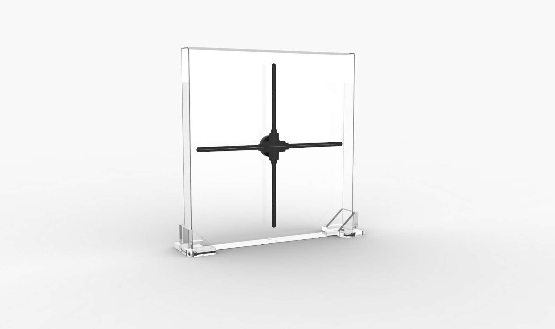 3D全息投影風扇100CM大風扇加壓克力安全防護罩 -