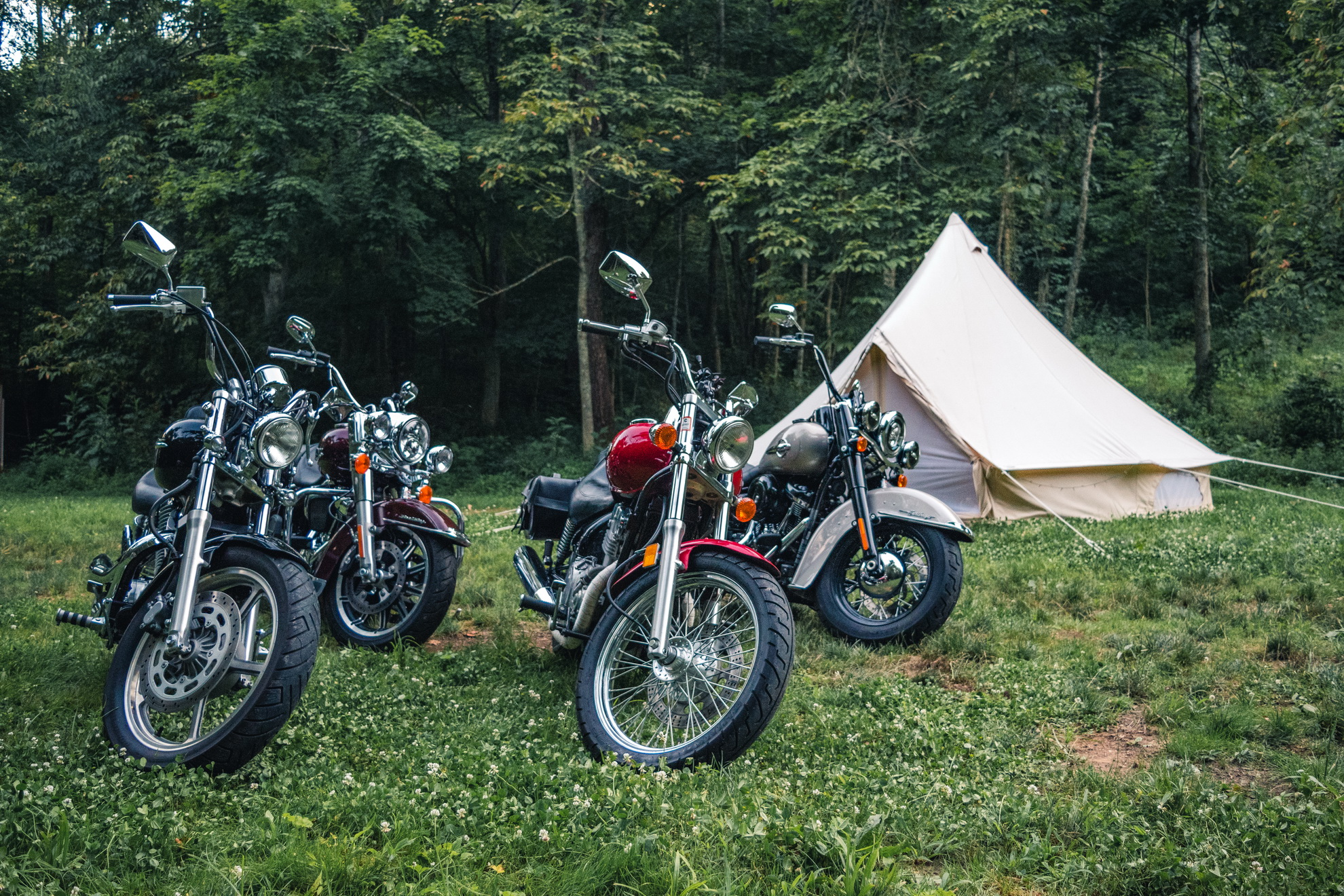 Some bikes camping at Blue Heron Run by Albany. Thanks to Sarah Sipos for the photo!