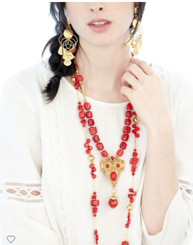 RED CORAL AND GOLD BARRERA JEWELRY ON NEIMAN MARCUS LAST CALL