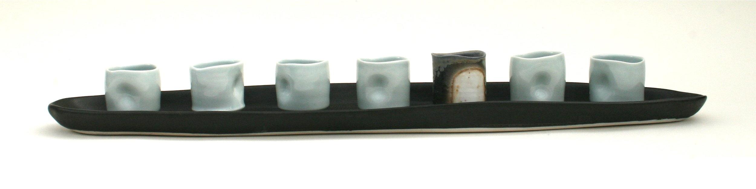 Brown, Sarah Platter with Cups 24.5x5x2.5.JPG