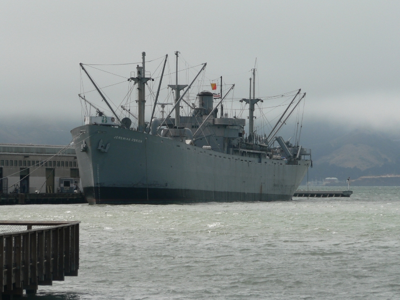 The O'Brien rests in her berth at San Francisco's Pier 45. (photo via Wikimedia)