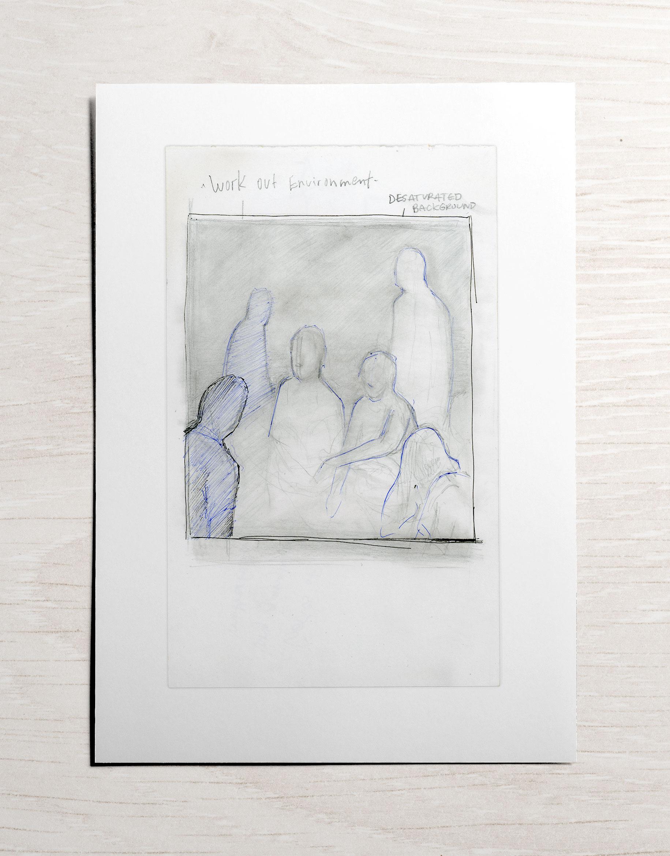 "Undone,  Inkjet on cardstock, 4""x6"", 2016  Courtesy of the artist"