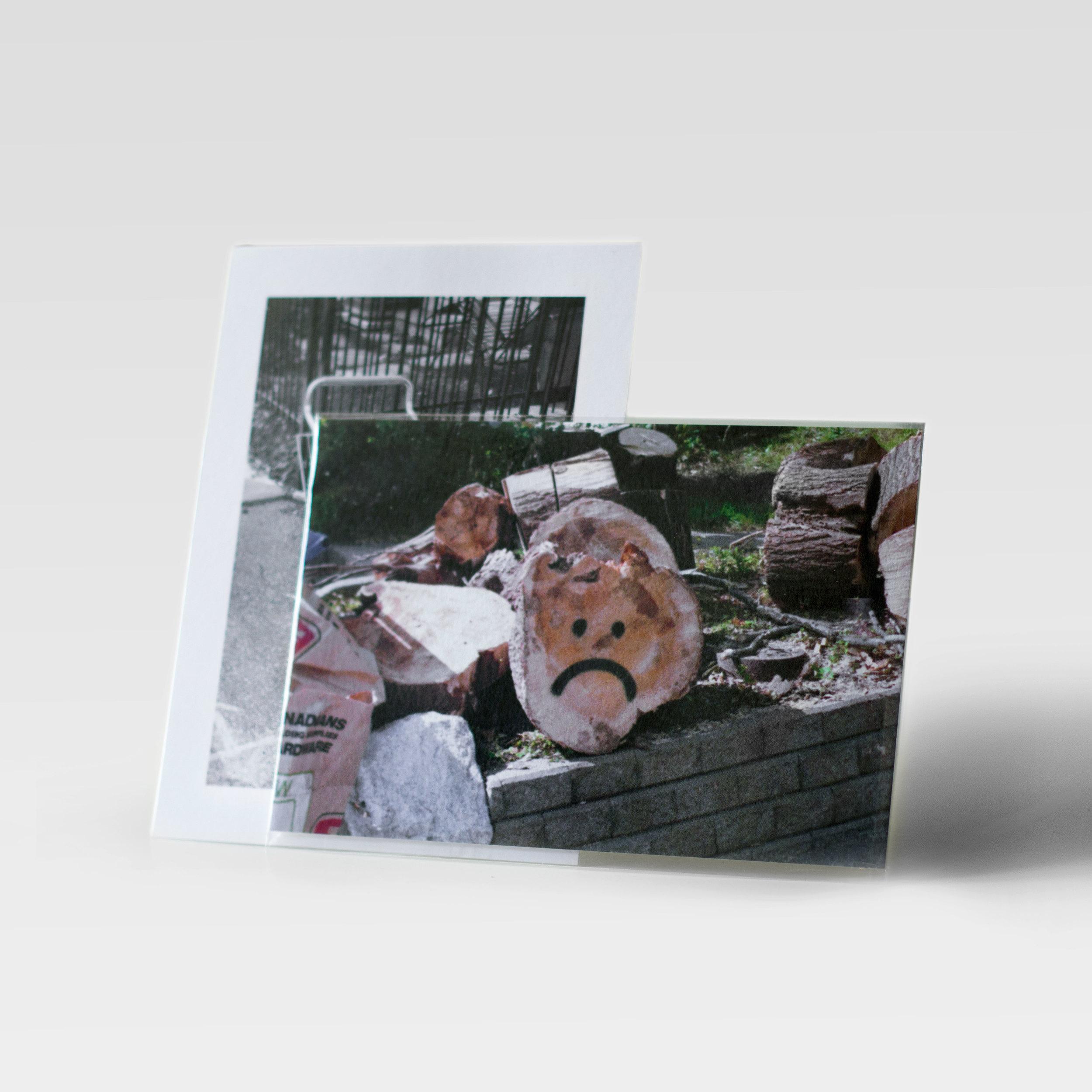 "Sad Log Postcard,  Offset print on card stock, 4"" x 6"", Edition of 50,2016  Courtesy of the artist."