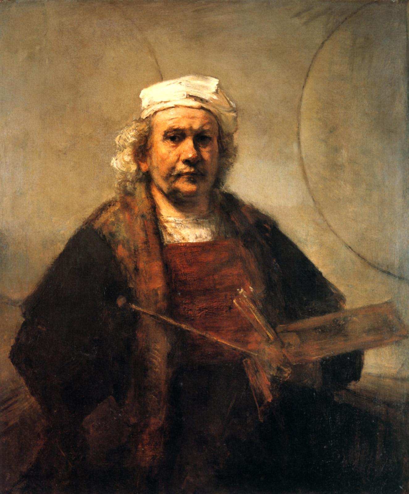 Rembrandt Harmenszoon van Rijn, Self Portrait, Oil on Canvas, 1663